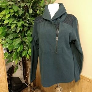 Columbia quilted fleece 1/4 zip pullover top (81)